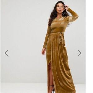 Asos Tie Front Maxi Dress